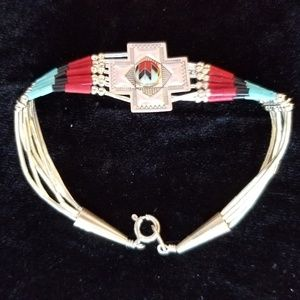 Jewelry - 925 Native American 6 Strand Liquid Bracelet